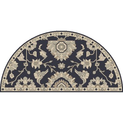 Kempinski Hand-Tufted Blue/Beige Area Rug Rug Size: Wedge 2 x 4