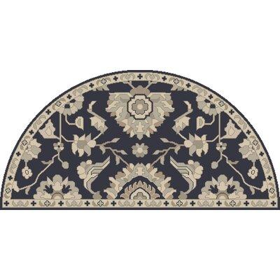 Kempinski Handmade Wool Black/Beige Area Rug Rug Size: Wedge 2 x 4
