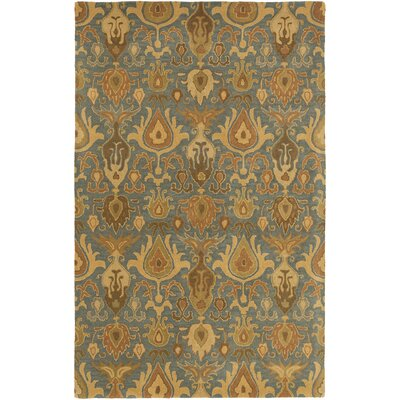 Kempinski Hand-Tufted Beige/Blue Area Rug Rug Size: Rectangle 5 x 8