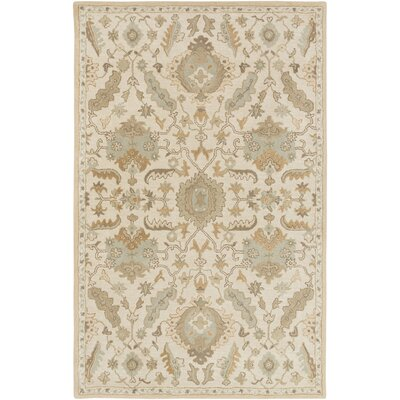 Kempinski Hand Tufted Beige/Tan Area Rug Rug Size: Rectangle 4 x 6