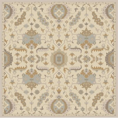 Kempinski Hand Tufted Beige/Tan Area Rug Rug Size: Square 8