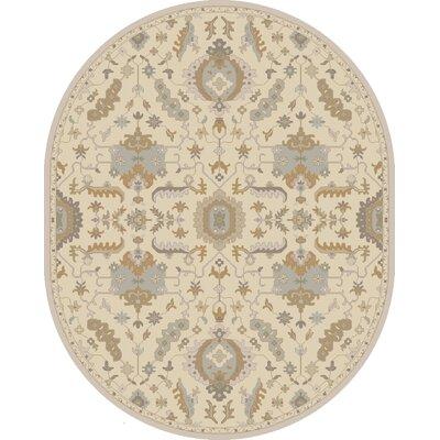 Kempinski Hand Tufted Beige/Tan Area Rug Rug Size: Oval 8 x 10