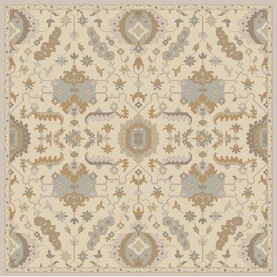 Kempinski Hand Tufted Beige/Tan Area Rug Rug Size: Square 4