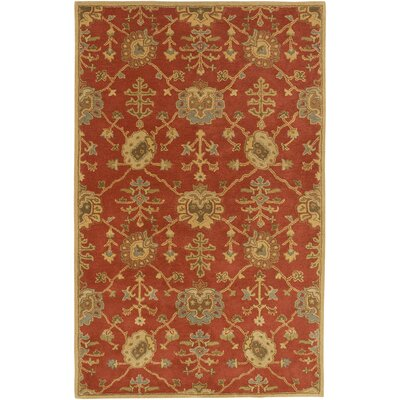 Kempinski Hand-Tufted Beige/Orange Area Rug Rug Size: 7'6