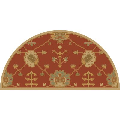 Kempinski Hand-Tufted Beige/Orange Area Rug Rug Size: Slice 2 x 4