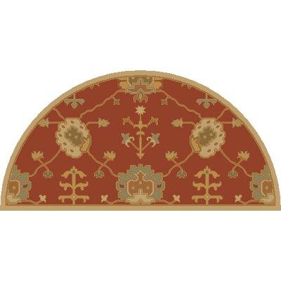 Kempinski Hand-Tufted Beige/Orange Area Rug Rug Size: Slice 2' x 4'