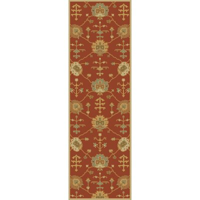 Kempinski Hand-Tufted Beige/Orange Area Rug Rug Size: Runner 26 x 8