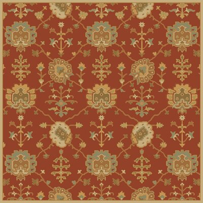 Kempinski Hand-Tufted Beige/Orange Area Rug Rug Size: Square 4'