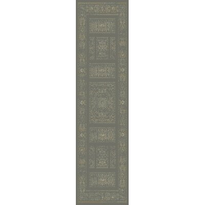 Ventanas Charcoal/Beige Area Rug Rug Size: Runner 27 x 73