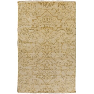 San Michele Hand-Knotted Beige Area Rug Rug Size: Rectangle 36 x 56