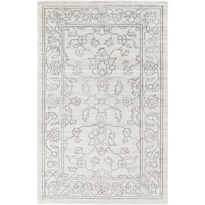 Gillian Hand-Woven Gray/Ivory Area Rug Rug Size: Rectangle 4 x 6