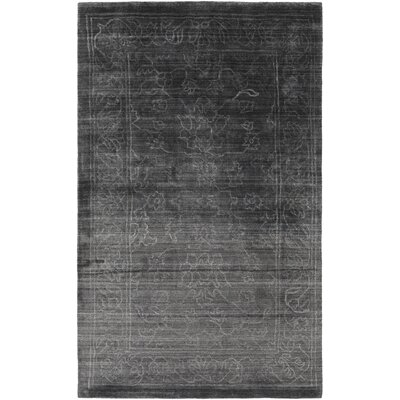 Cernobbio Hand-Woven Black Area Rug Rug Size: Rectangle 4 x 6