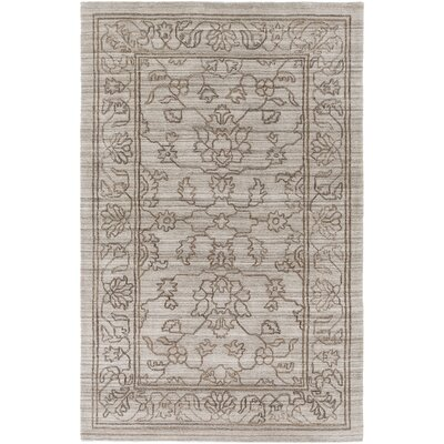 Cernobbio Hand-Woven Gray Area Rug Rug Size: Rectangle 4 x 6