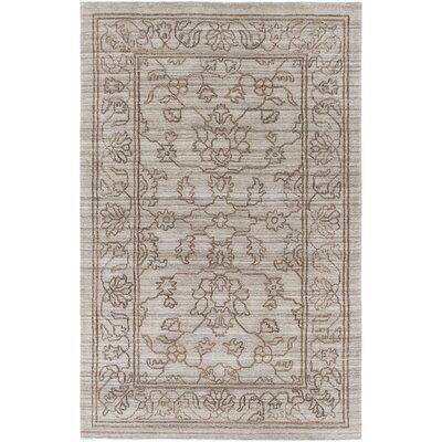 Cernobbio Hand-Woven Gray Area Rug Rug Size: 4 x 6