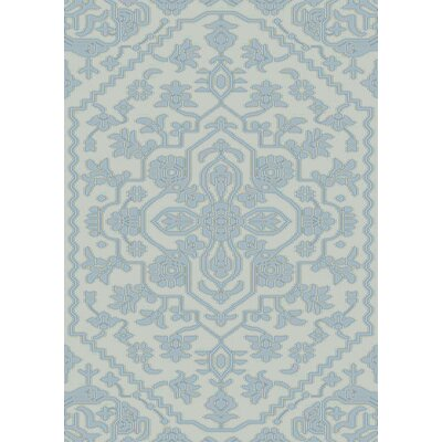 LErmitage Hand-Knotted Blue Area Rug Rug Size: Rectangle 5 x 76