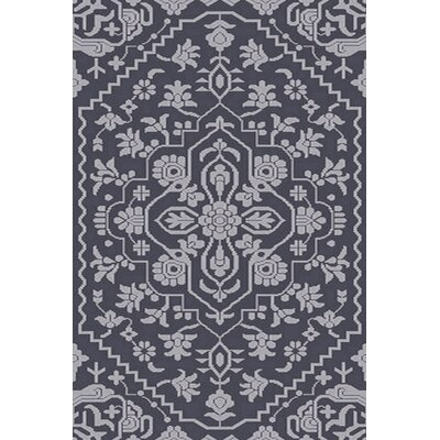 LErmitage Hand-Knotted Blue Area Rug Rug Size: 5 x 76