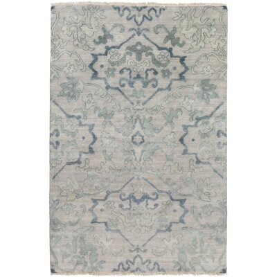 San Michele Hand-Knotted Gray Area Rug Rug Size: Rectangle 36 x 56