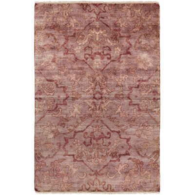 San Michele Hand-Knotted Pink Area Rug Rug Size: Rectangle 2 x 3