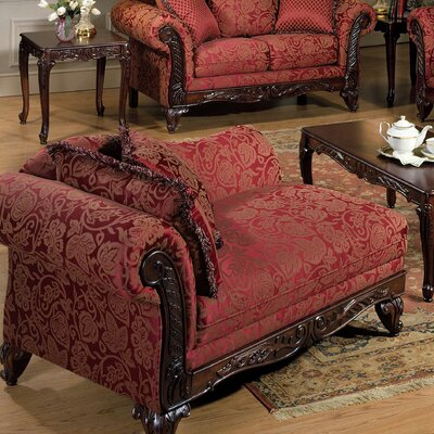 Serta Upholstery Belmond Chaise Lounge Upholstery: Momentum Magenta / Safari / Sateena