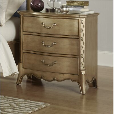 Brodea 3 Drawer Nightstand