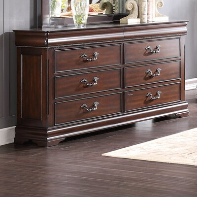 Boltongate 6 Drawer Dresser with Mirror