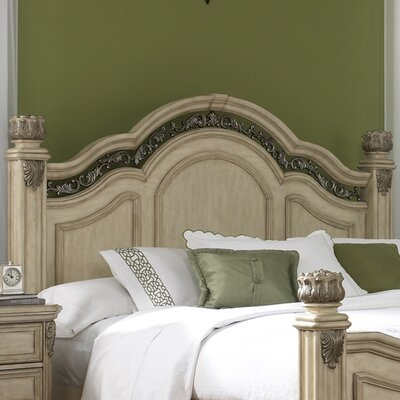 Cavas Panel Headboard Size: King, Finish: Antique Ivory
