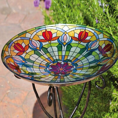 Belleview Floral Bird Bath