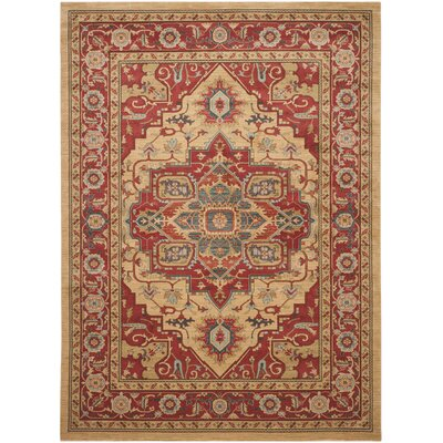 Clarion Red Area Rug Rug Size: Rectangle 9 x 12