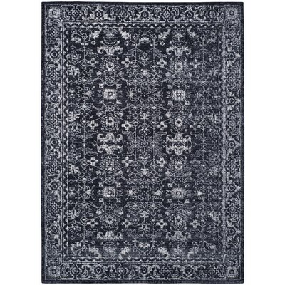 Bellagio Charcoal/Ivory Area Rug Rug Size: 5'1