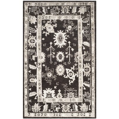 Hacienda Hand-Knotted Charcoal Area Rug Rug Size: 5' x 8'