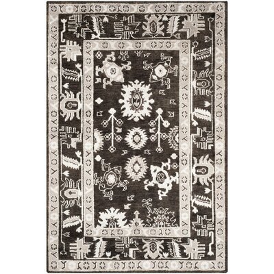 Hacienda Hand-Knotted Charcoal Area Rug Rug Size: Rectangle 8 x 10