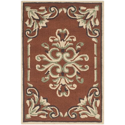 Rockingham Hand-Hooked Rust Area Rug Rug Size: Rectangle 2 x 3