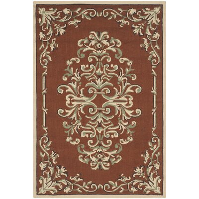 Rockingham Hand-Hooked Rust Area Rug Rug Size: Rectangle 3 x 5
