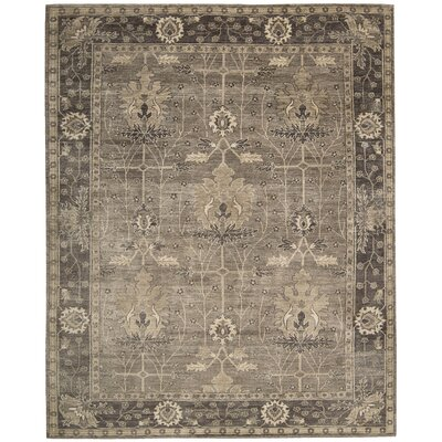 Bachar Hand-Knotted Opal/Grey Area Rug Size: Rectangle 56 x 8