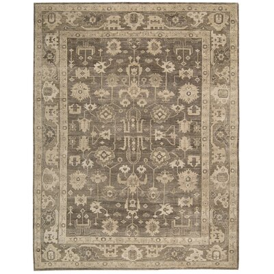 Bachar Hand-Knotted Mocha Area Rug Rug Size: Rectangle 99 x 139