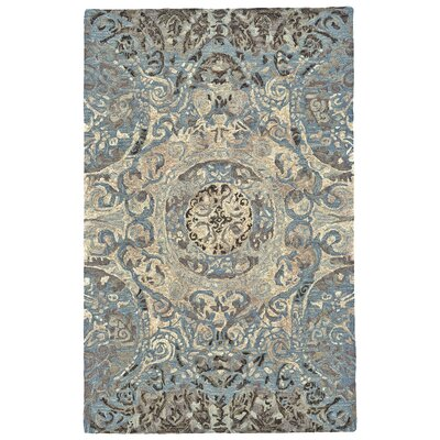 Palmer Hand-Tufted Twilight Area Rug Rug Size: 96 x 136
