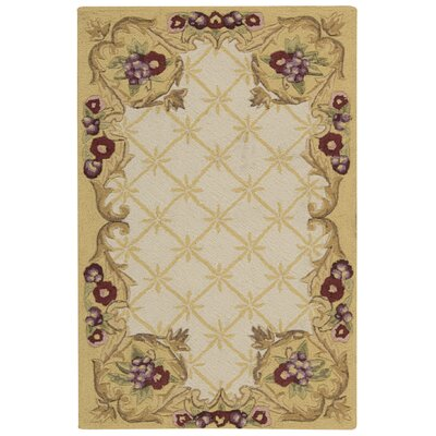 Westin Hand-Hooked Ivory Area Rug Rug Size: Rectangle 26 x 4