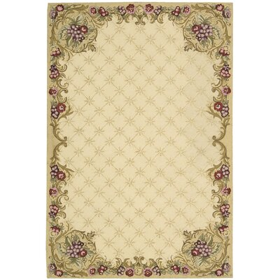 Westin Hand-Hooked Ivory Area Rug Rug Size: Rectangle 36 x 56