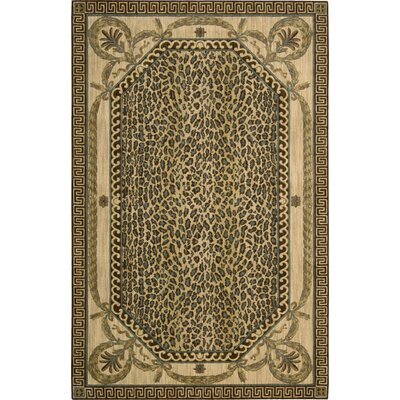 Weldon Beige Animal Print Area Rug