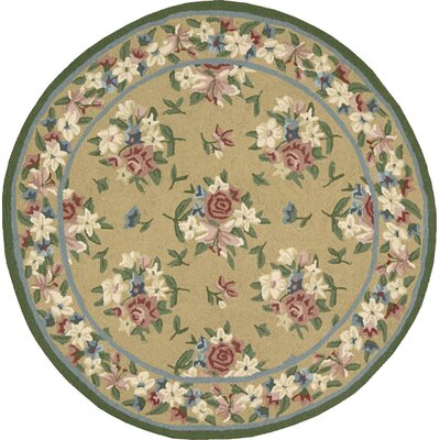 Marquette Handmade Yellow Area Rug Rug Size: Round 49