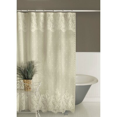 Victor Shower Curtain Color: Ecru
