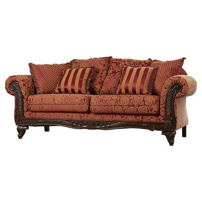 Serta Upholstery Belmond Sofa Upholstery: Momentum Magenta/Safari/Sateena
