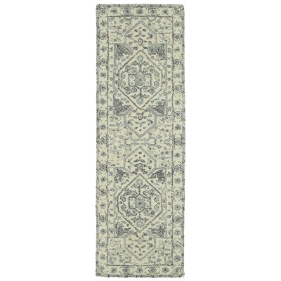 Eugene Hand-Tufted Gray Area Rug Rug Size: Runner 26 x 8