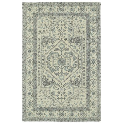 Eugene Hand-Tufted Gray Area Rug Rug Size: Rectangle 36 x 56