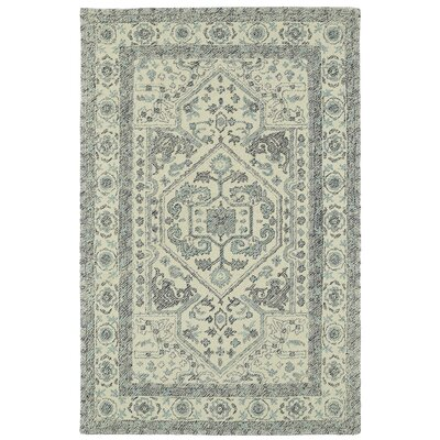 Eugene Hand-Tufted Gray Area Rug Rug Size: 5 x 9