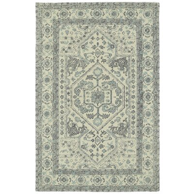 Eugene Hand-Tufted Gray Area Rug Rug Size: 9 x 12