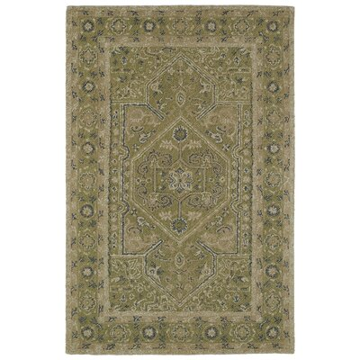 Eugene Hand-Tufted Green Area Rug Rug Size: Rectangle 9 x 12