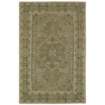 Eugene Hand-Tufted Green Area Rug Rug Size: Rectangle 2 x 3