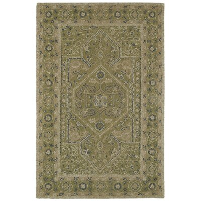 Eugene Hand-Tufted Green Area Rug Rug Size: 3'6