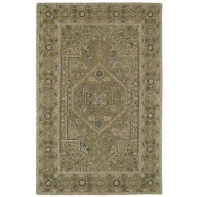 Eugene Hand-Tufted Green Area Rug Rug Size: 5 x 9